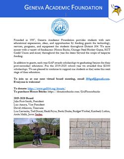 GAF Backpack Flyer 2020 May 30