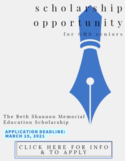 GHS Beth Shannon Memorial Scholarship Flyer 2020 March 16