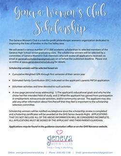 GWC Scholarship May 1