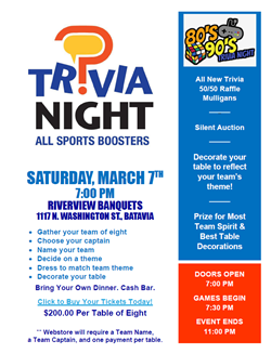Trivia Night March 6