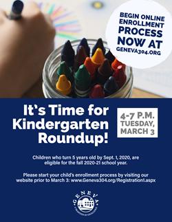 Kindergarten Roundup March 3