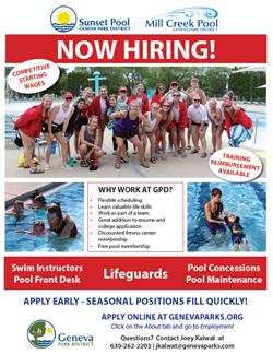 Now Hiring Pool Staff June 1