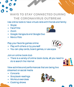 Ways to stay connected during coronavirus en