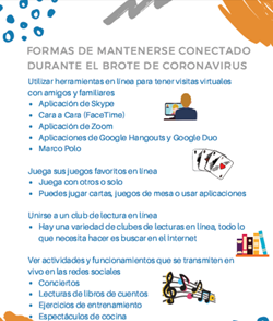 Ways to stay connected during coronavirus sp