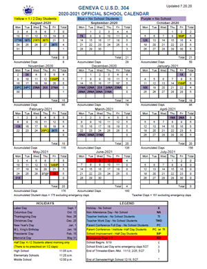 2020-21 District Calendar
