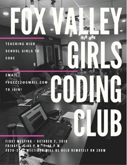 Fox Valley Girls Coding Club Flyer Dec 5