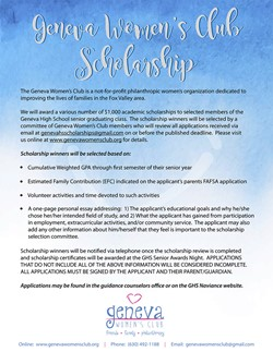 GWC Scholarship Flyer to Parents 2020 Social Media April 16