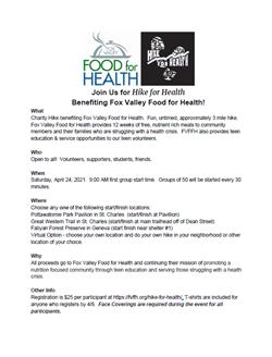 Hike for Health Info Sheet Apr 25