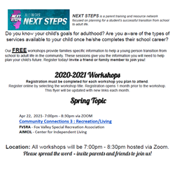 Spring 2021 Transition Training for Parents Apr 23