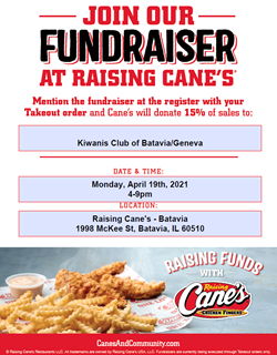 Takeout Only Fundraiser Flyer Geneva Theatre Boosters Apr 20
