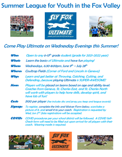 Sly Fox Summer League Flyer Info Waiver July 1