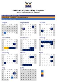 2021-22 GELP Schedule