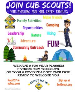 Cub Scouts Sept 22