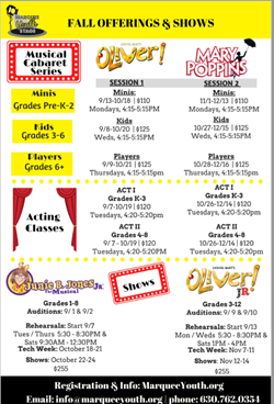 Acting Oliver Cabaret Series and Show Auditions Oct 28
