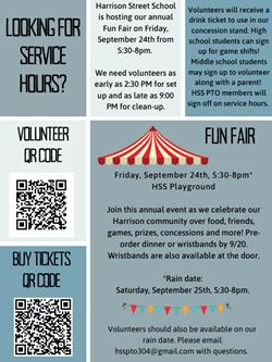 Fun Fair Service Hours Sept 25