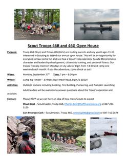 Scouts BSA Open House 2021 Sept 28