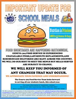 School Meals Update Sept 24