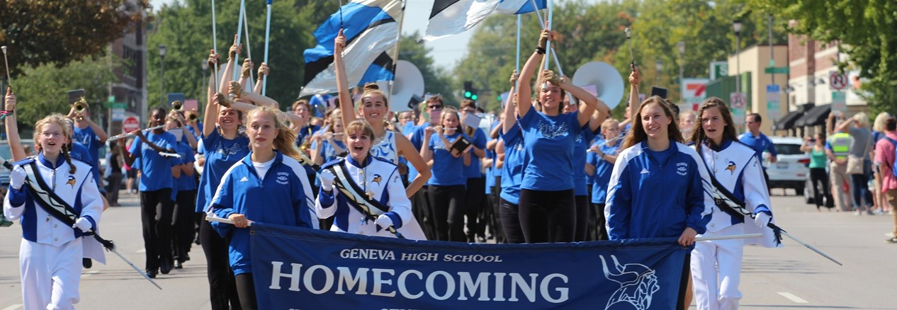Geneva High School Parade begins on Route 38 Downtown