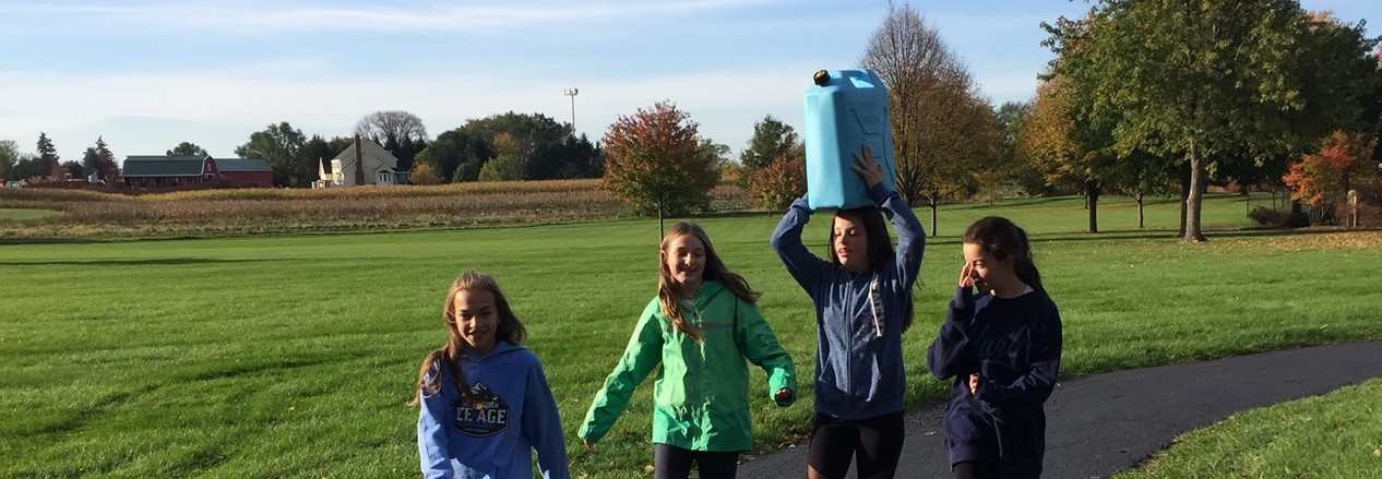 "Language Arts Seventh-Graders Simulate an Exercise Based on the Book ""Walking for Water"""