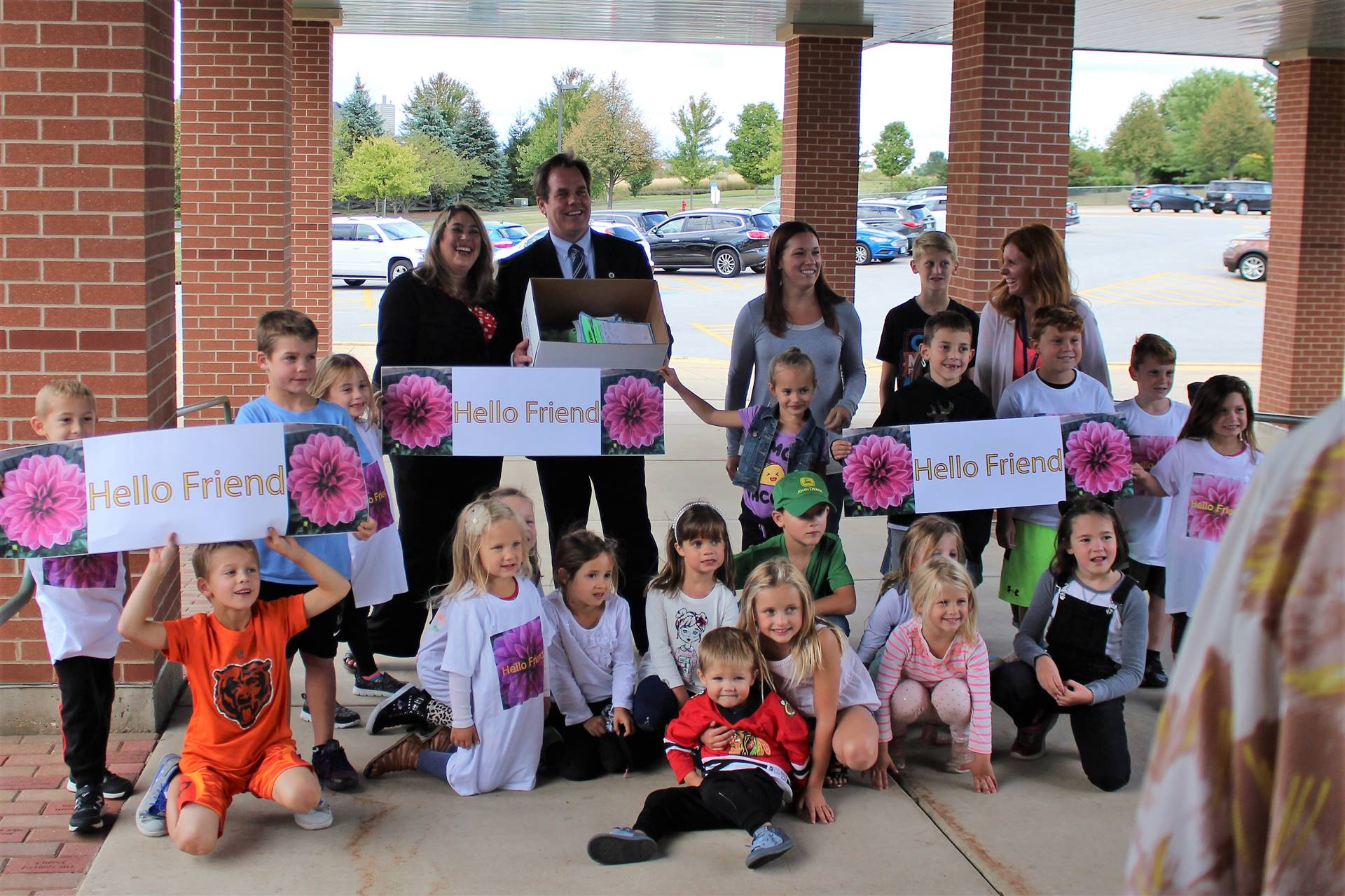 Dozens of children stopped by Heartland on Sept. 6 to offer their letter of donation.