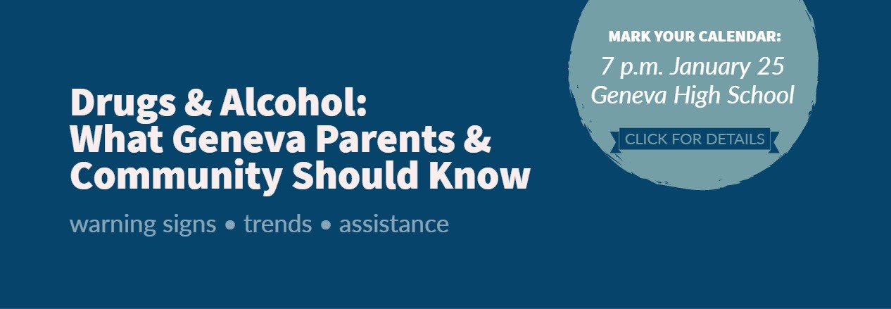 Save the Date Jan. 25 for Program at GHS on Drug & Alcohol Use