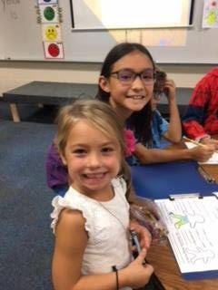 Gianna and 4th Grade Buddy
