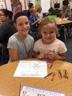 Eva and 4th Grade Buddy