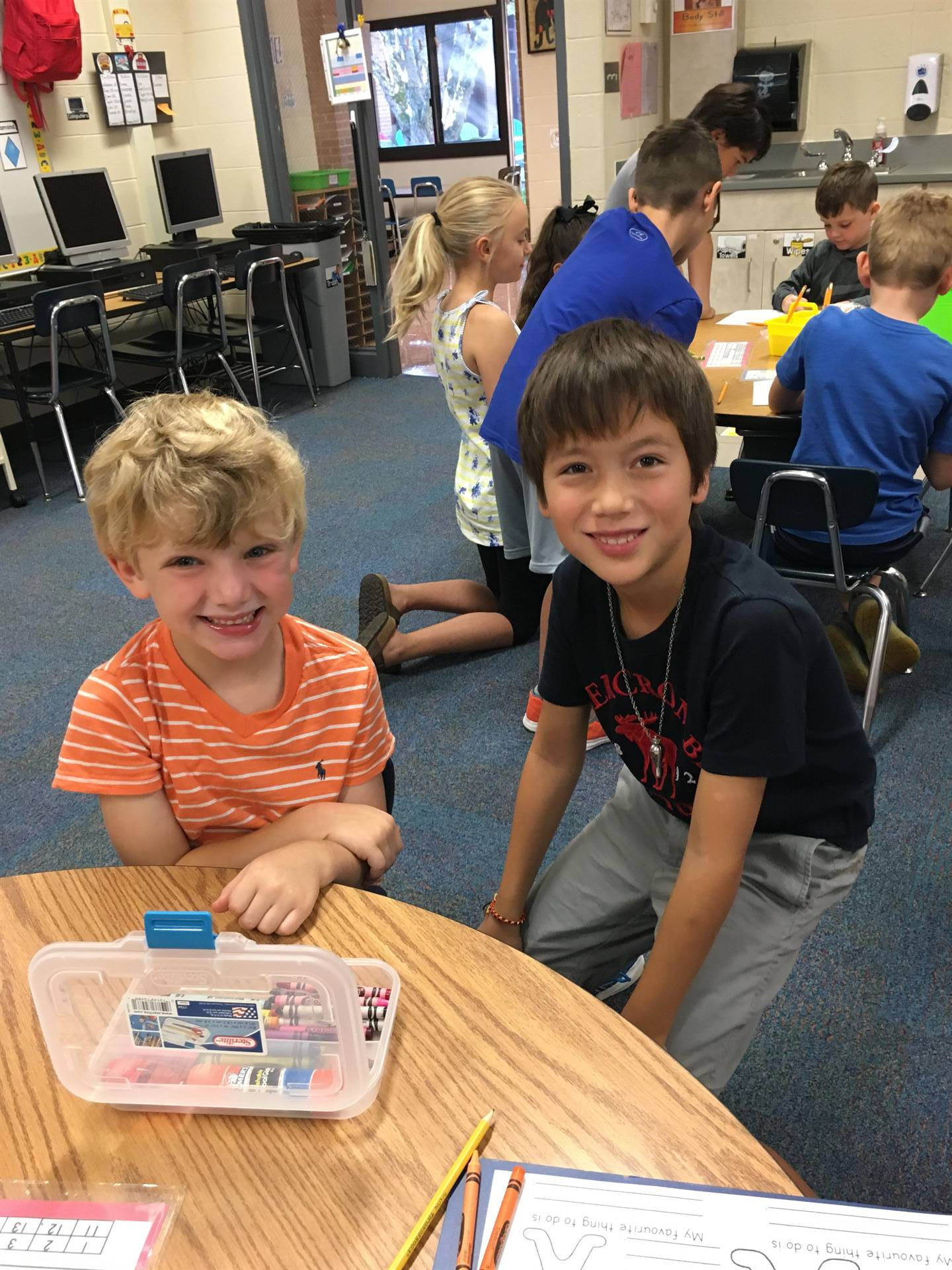 Cannon and 4th Grade Buddy