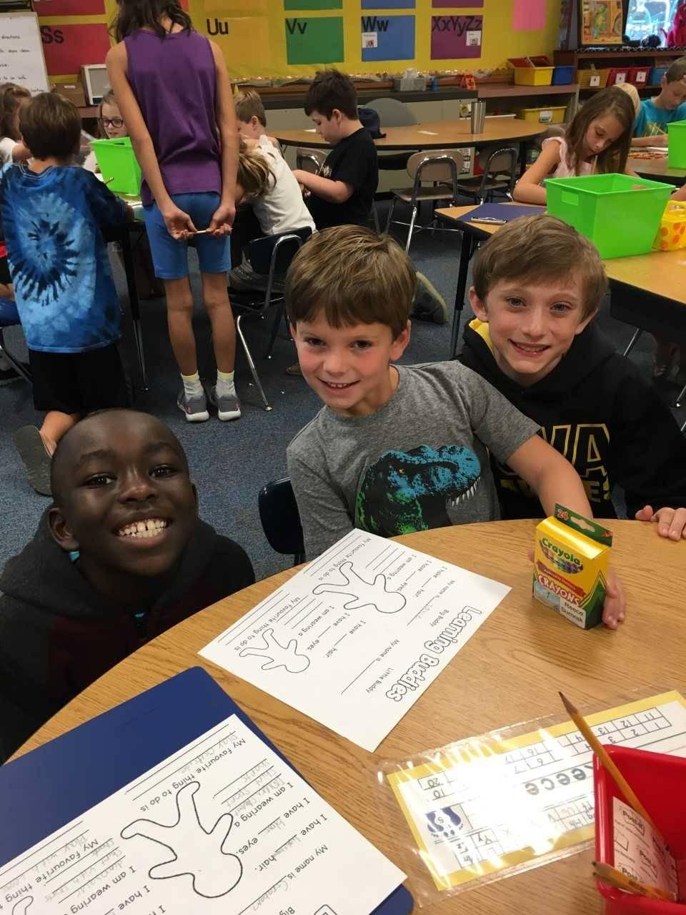 Reece and 4th Grade Buddy