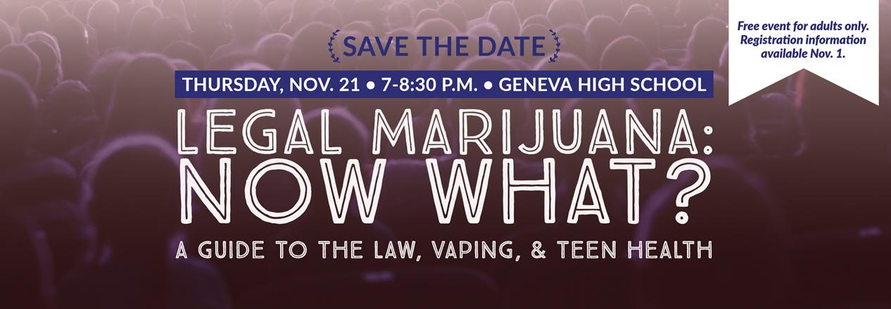 Legal Marijuana: Now What? Community Event at GHS Nov. 21 7-8:30 pm