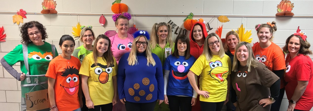 GELP Halloween 2019 Staff Dressed as Sesame Street