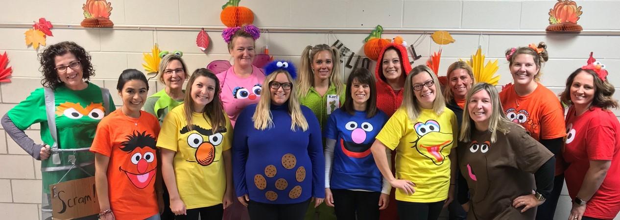 GELP Halloween 2019 Staff Dressed as Sesame Street