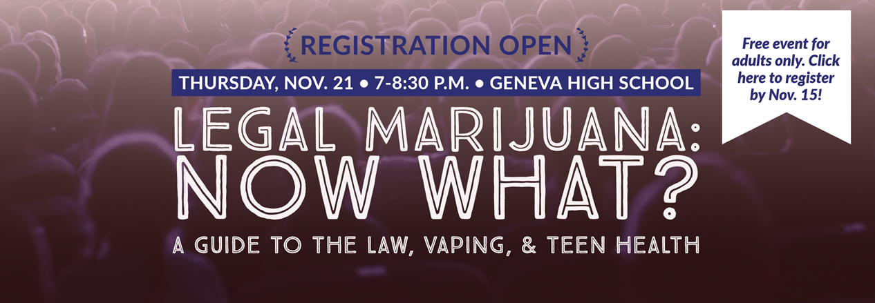 Click here to register for Legal Marijuana: Now What? Community Event at GHS Nov. 21 7-8:30 pm