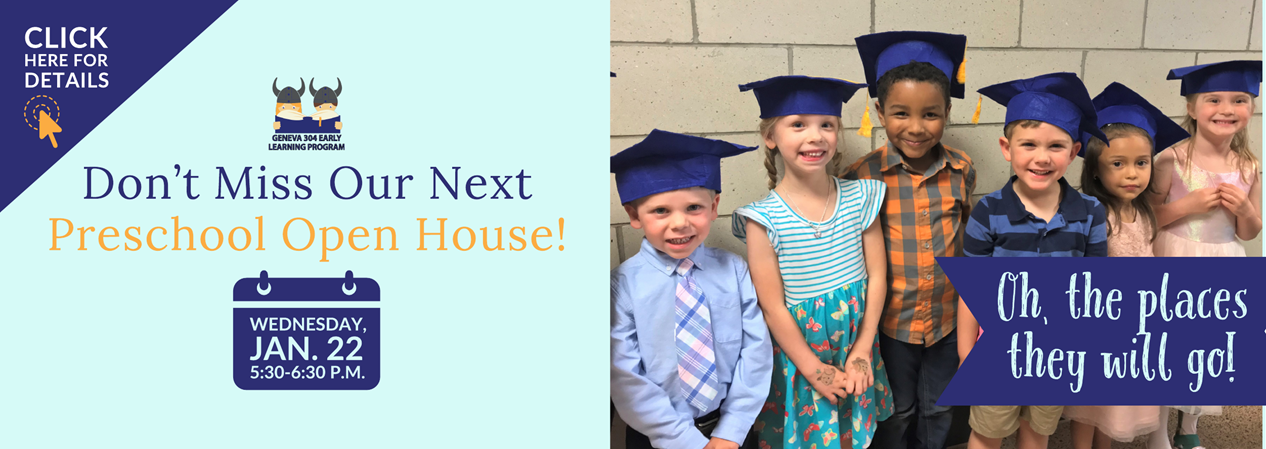 GELP Preschool Open House Scheduled for Wednesday, Jan. 22 at 5:30 pm