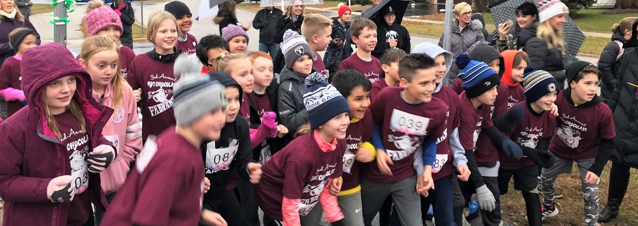 Fabyan Elementary Students Start Hot Chocolate Run 2019