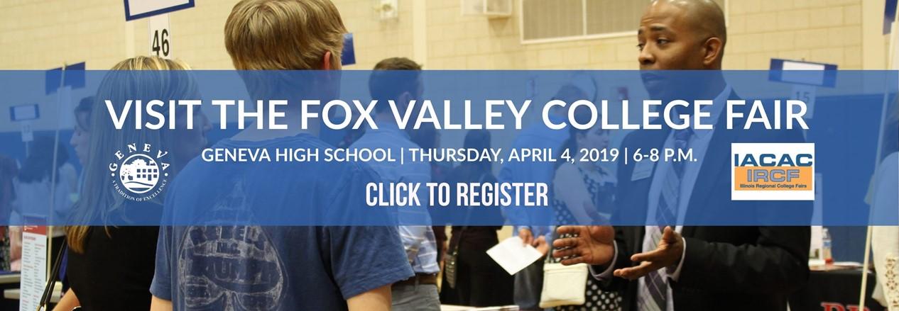 GHS Fox Valley College Fair Banner