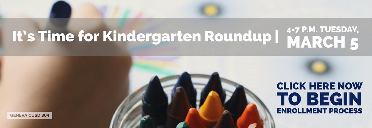 Kindergarten Roundup Enrollment Banner