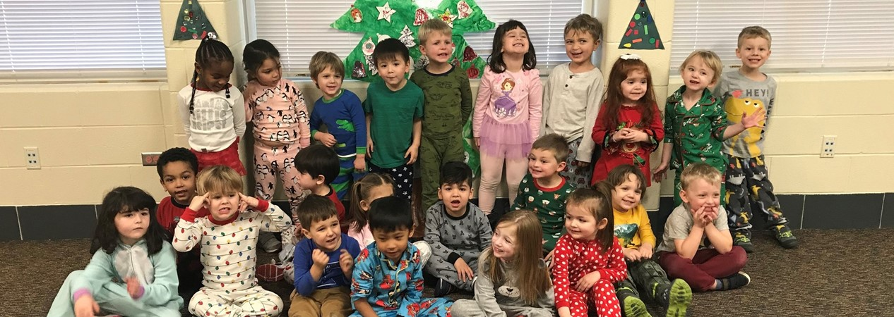 Early Learners have holiday pajama day