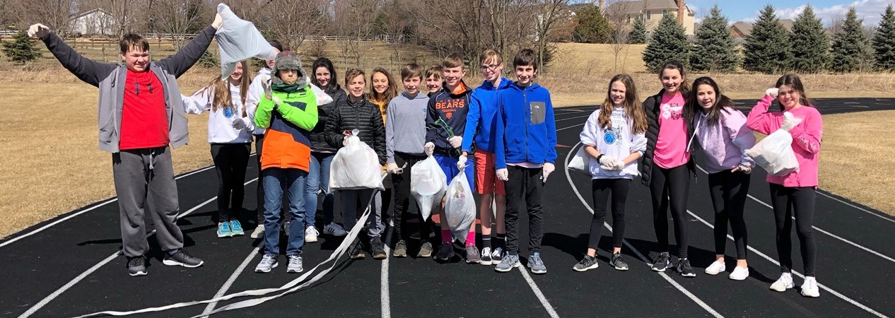 GMSN Students Participte in #Trashtag Challenge