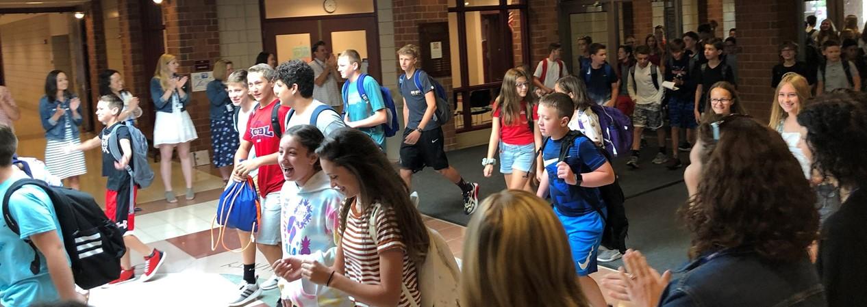 Students enter Geneva Middle School North