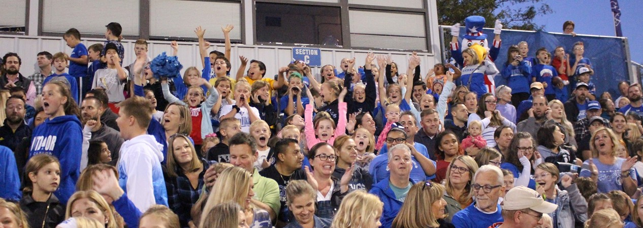 Geneva Vikings Cheer at Blue & White Night