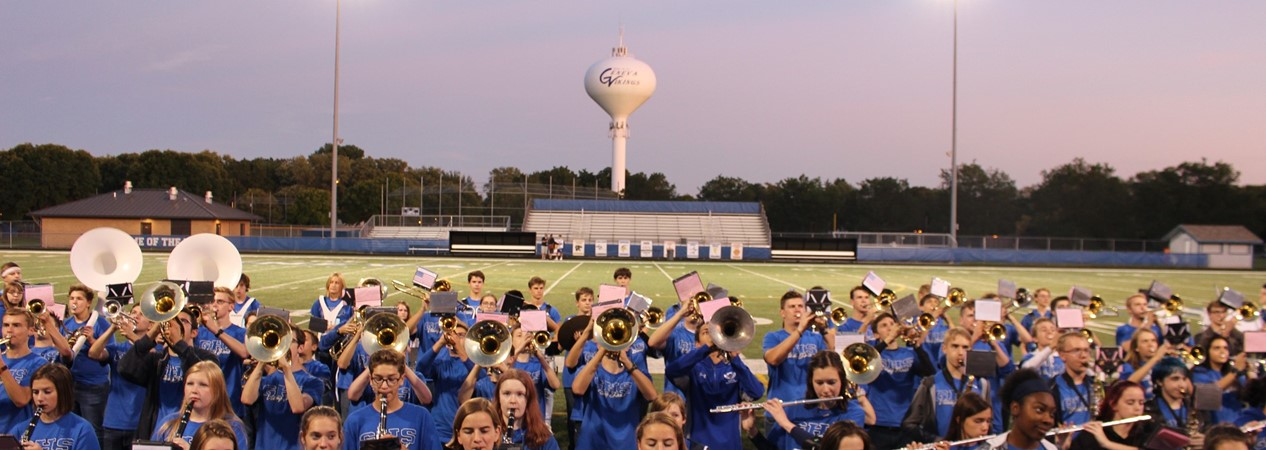 GHS Marching Band at Blue & White Night