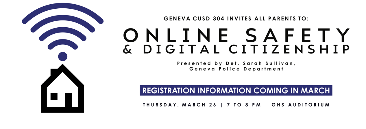 Save the Date Online Safety Forum March 26 Click image to learn more