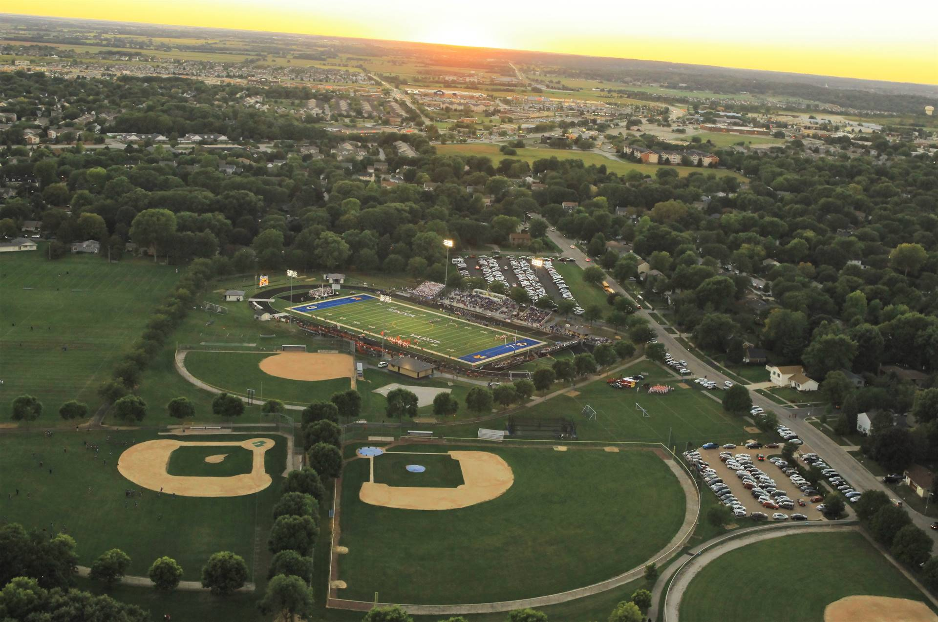 Aerial Baseball and Softball FIelds