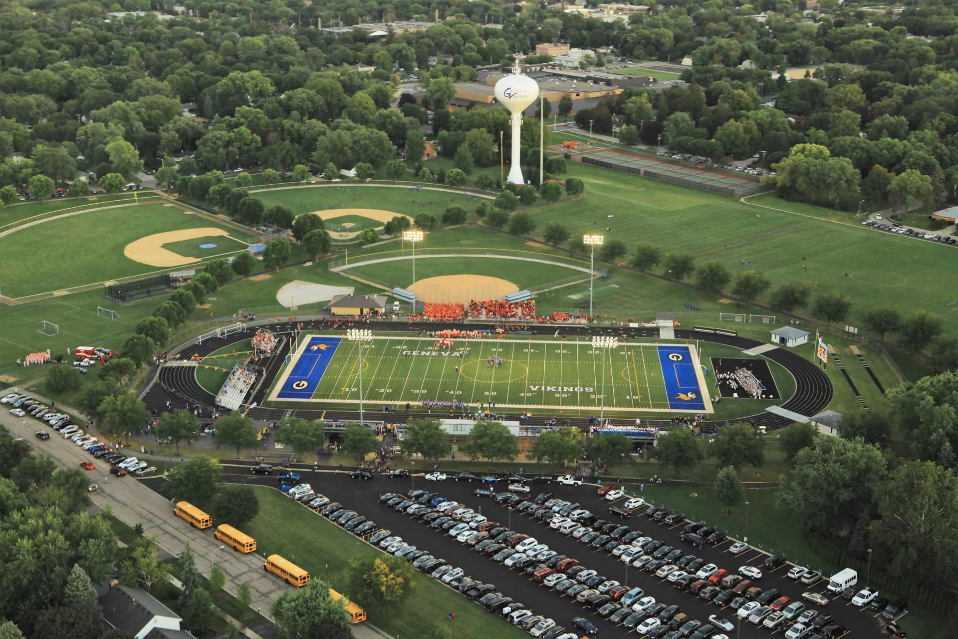 Aerial Burgess and Baseball Softball Fields