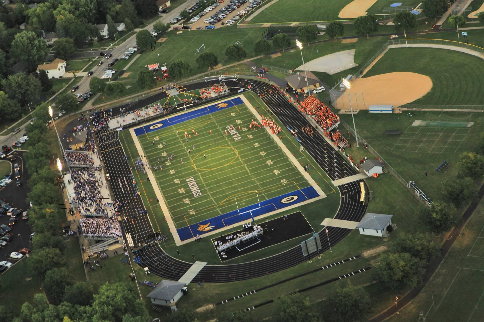Aerial Burgess Field