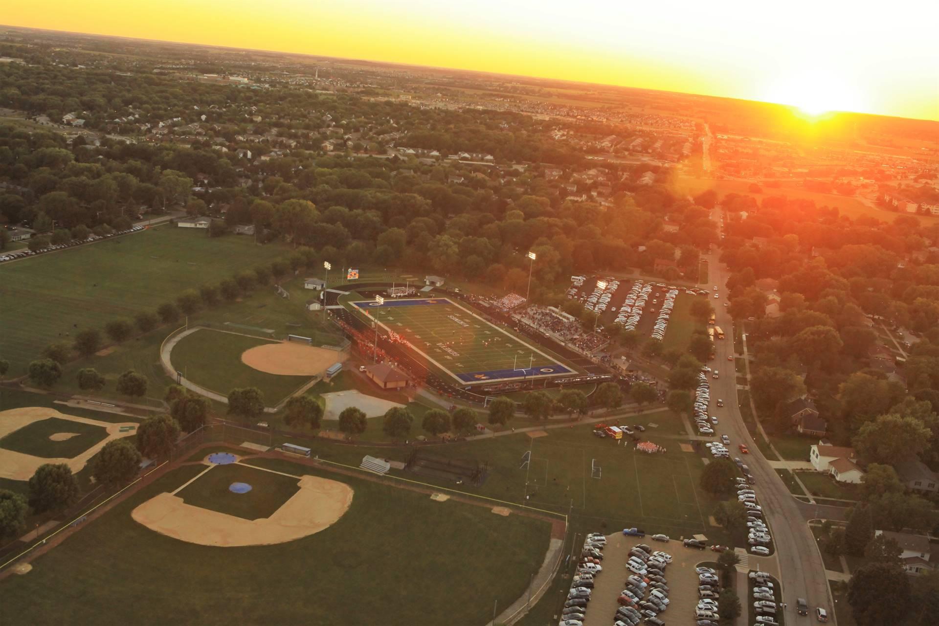 Aerial Baseball Field