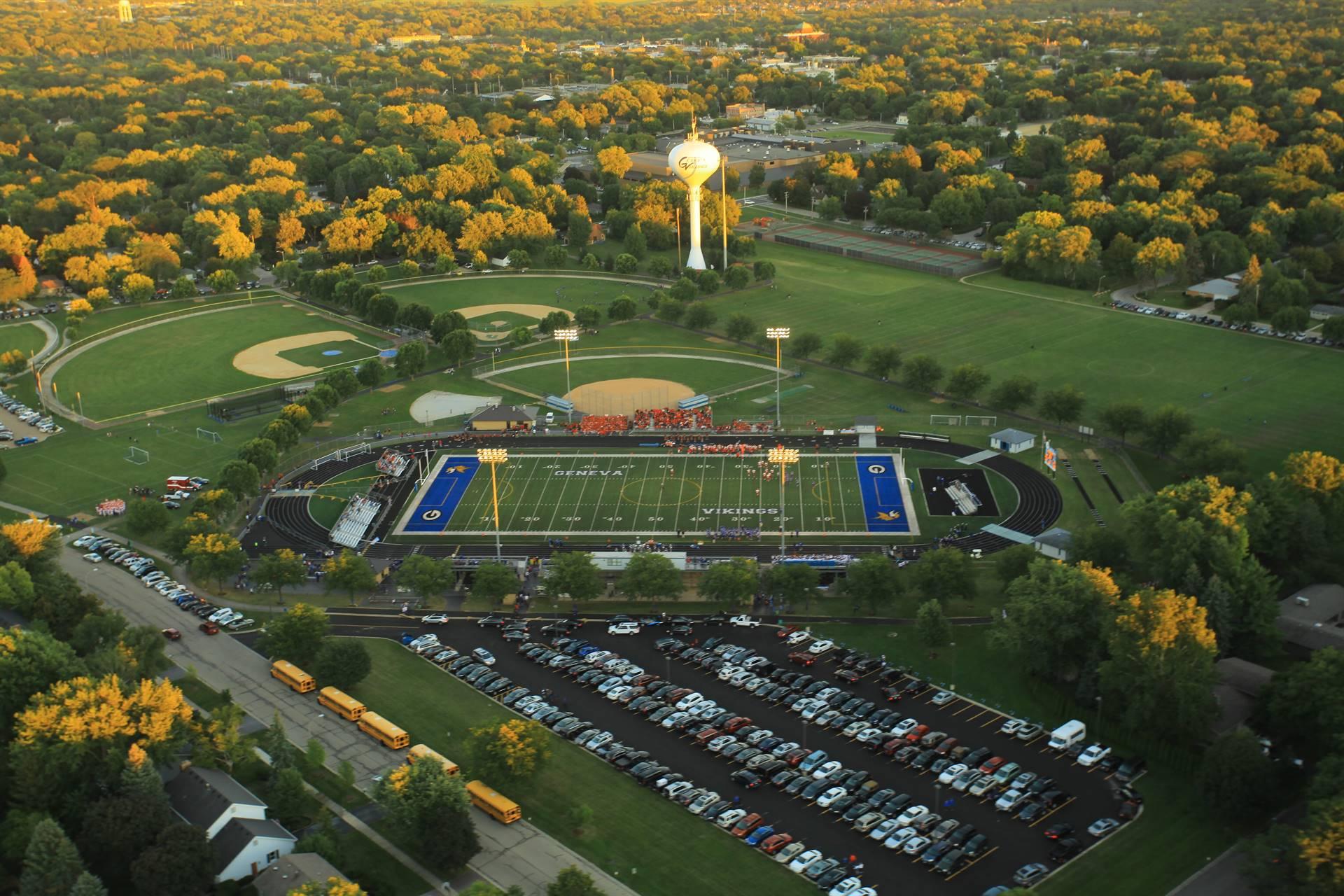 Aerial View Burgess Field
