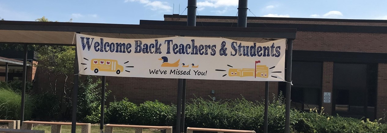Welcome Back Sign at WAS
