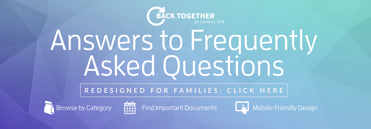 New Back Together FAQ -  click to read